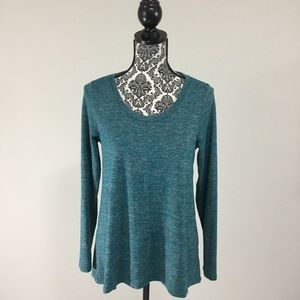 Jones New York Ladies Knit Long Sleeve HighLow Top